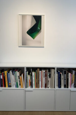 Wolfgang Tillmans, Paper Drop (green), 2008, installation view